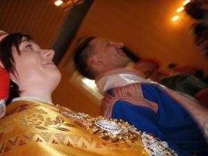 Nygifte i Guovdageaidnu. Katja K og Roy K. Foto: Nikolaus Wollberg.