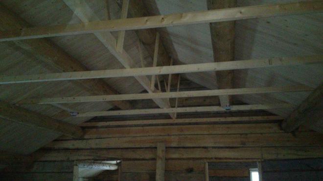 Detalj fra taket inne i andre etasje. Foto: Per Wollberg.