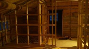 Bilde er fra et soverom ut mot hall og toalett. Foto: Per Wollberg.