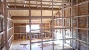 Her er syrommet ferdig til å isoleres og få vegger og elkabler i seg. Foto: Anne Wuolab.